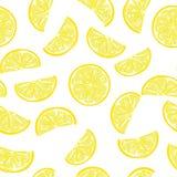 Seamless sliced lemon pattern Stock Photo