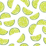 Seamless sliced lime pattern. Seamless pattern of sliced limes, vector illustration Royalty Free Stock Images