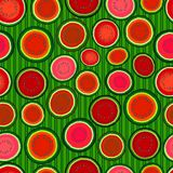 Seamless slices of watermelon Stock Image