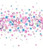 Seamless small flowers watercolor Stock Photos