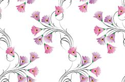 Seamless small vector floral pattern design Royalty Free Stock Image
