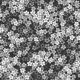 Seamless small white flowers pattern background Stock Photography