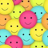 Seamless  smileys Stock Photo