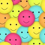 Seamless smileys Arkivfoto