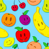 Seamless, smiling fruit background Royalty Free Stock Photography