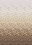 Seamless smooth transition of color mosaic from beige to brown. Stock Photography