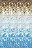 Seamless smooth transition of color mosaic from blue to brown Stock Images