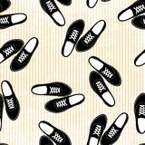 Seamless sneakers illustration background pattern Royalty Free Stock Image