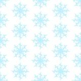 seamless snow för modell blåa snowflakes Arkivfoto