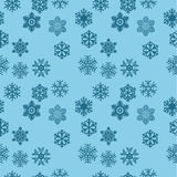 Seamless snow flakes background Stock Photos