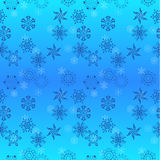 Seamless snow flakes background Royalty Free Stock Image