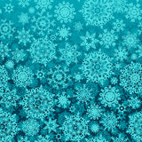 Seamless snow flakes vector pattern Stock Image