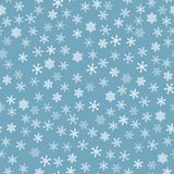 Seamless snow pattern Stock Images