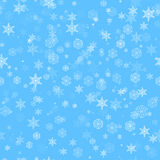 Seamless snow pattern Stock Image