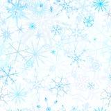 Seamless snowfall background Stock Photography
