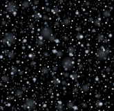 Seamless Snowfall Pattern Stock Photography