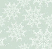 Seamless snowflake background Royalty Free Stock Images