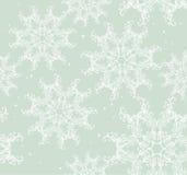 Seamless snowflake background vector illustration