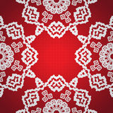 Seamless snowflake background Stock Photography