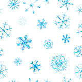 Seamless snowflake background Royalty Free Stock Photo