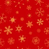 Seamless snowflake background royalty free stock photos