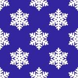 Seamless snowflake background Stock Photos