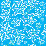 Seamless snowflake background Stock Photos