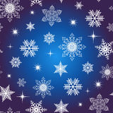 Seamless snowflake background stock images