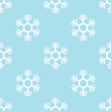 Seamless snowflake background vector Stock Photos