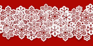 Seamless snowflake border. For Your design