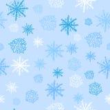 seamless snowflake för modell Vektor Illustrationer