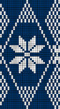 Seamless Snowflake Knit Pattern Royalty Free Stock Photo