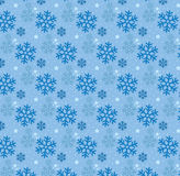 Seamless snowflake and Little Star Pattern Background Stock Photos