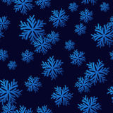 Seamless Snowflake Pattern Royalty Free Stock Image