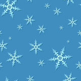 Seamless Snowflake Pattern Stock Photo