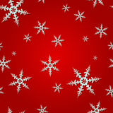 Seamless Snowflake Pattern vector illustration
