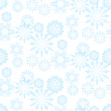 Seamless snowflake pattern Royalty Free Stock Photography