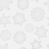 Seamless snowflake pattern Royalty Free Stock Images