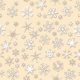 Seamless Snowflake Pattern Stock Image