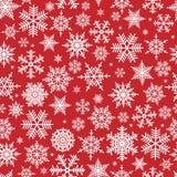 Seamless snowflake pattern Stock Photos