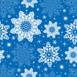 Seamless snowflake pattern stock photos