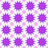 Seamless snowflake pattern. Purple seamless snowflake pattern Stock Photography