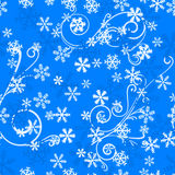 Seamless snowflake pattern Stock Photography