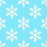 Seamless snowflake pattern winter background Royalty Free Stock Image