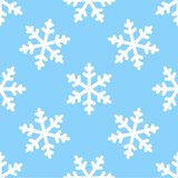 Seamless snowflake pattern winter background Royalty Free Stock Images