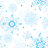 Seamless Snowflake Wallpaper Stock Photos