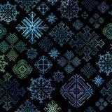 Seamless snowflake winter Christmas background Stock Image