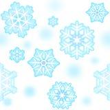 Seamless snowflakemodell för nytt år Fotografering för Bildbyråer