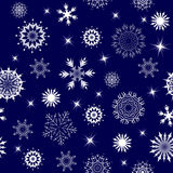 Seamless snowflakes Royalty Free Stock Image