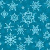 seamless snowflakes royaltyfri illustrationer